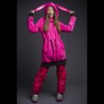 Женское сноубордическое худи pink bunny