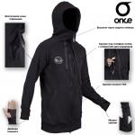 Худи Once `17 black-zip