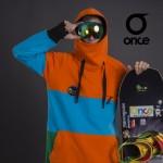 Худи Once `17 green-blue-orange