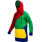 Худи Once Snow time`17 red-green-blue